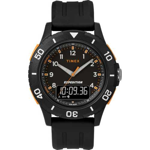 Timex Men's TW4B16700 Expedition Katmai Combo 40mm Black Resin Strap Watch