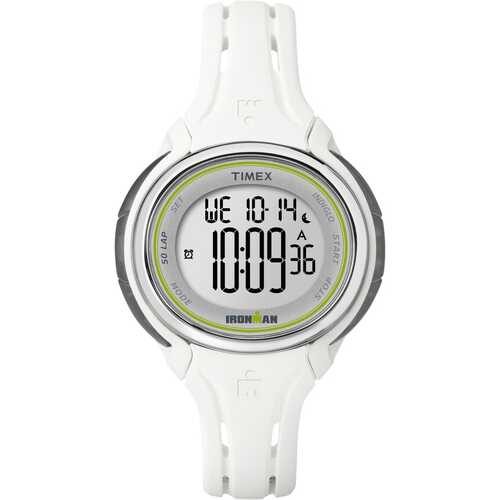 Timex Women's IRONMAN   Sleek 50 Mid-Size with Durable & Fade Resistant Silicone Strap