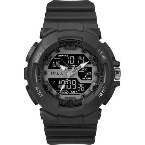 Thumbnail Timex Men's TW5M22500 HQ DGTL Sporty Combo Black/Negative Resin Strap Watch - N/A