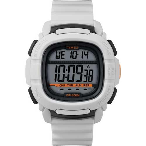 Timex Men's TW5M26400 BST.47 White Silicone Strap Watch