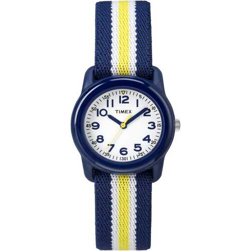 Timex Kids Analog Blue Yellow Elastic Watch