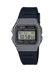 Casio Men's 'Classic' Quartz Plastic and Resin Casual Watch, Color Black (Model: F-91WM-1BCF)