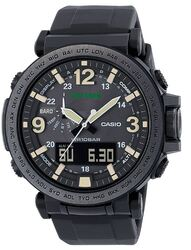 Category: Dropship Watches, SKU #PRG-600Y-1CR, Title: Casio Men's 'Pro Trek' Quartz Resin and Silicone Casual Watch, Color Black (Model: PRG-600Y-1CR)