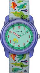 Timex TW7C77300 Kids Analog 28mm Dinosaurs Elastic Fabric Strap Watch