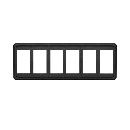 Contura Panel, 6 Position, Black