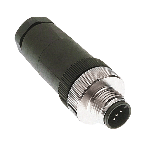 Field Connector, Male Micr/Mid, Straight