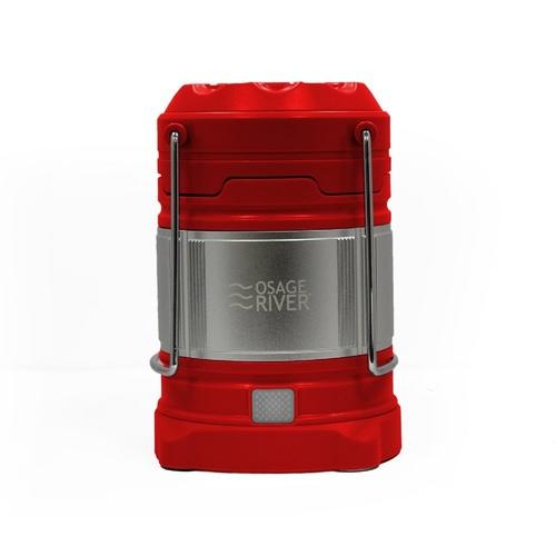Osage River LED Lantern with USB Power Bank - Red