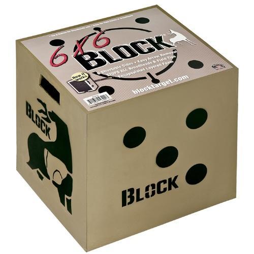 Block 6x6 Sided Archery Target-18 in.x18 in.x16 in.