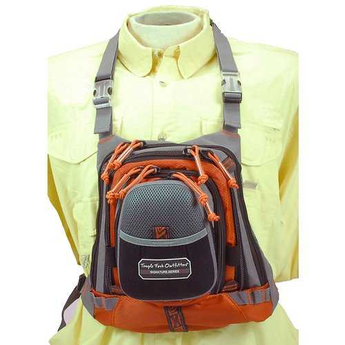 "TFO Med Size Chest Pack w/ Front Drop Pocket 13"" x 1"" 1"""