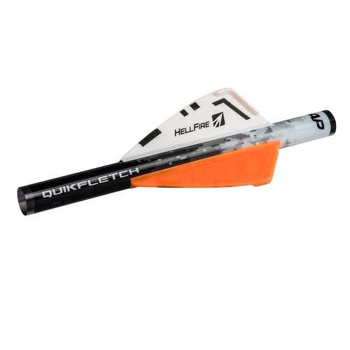 NAP Quikfletch 2in Hellfire -6 Pack White/Orange/Orange
