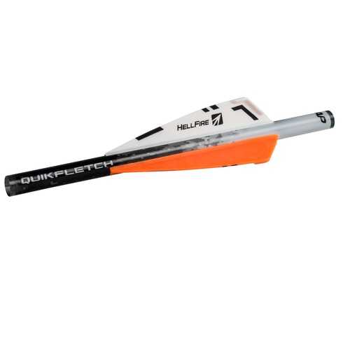 NAP Quikfletch 3in Hellfire Std - 6 Pack White/Orange/Orange