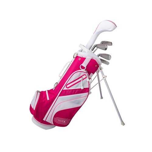 Tour X Size 1 Pink 5pc Jr Golf Set w Stand Bag