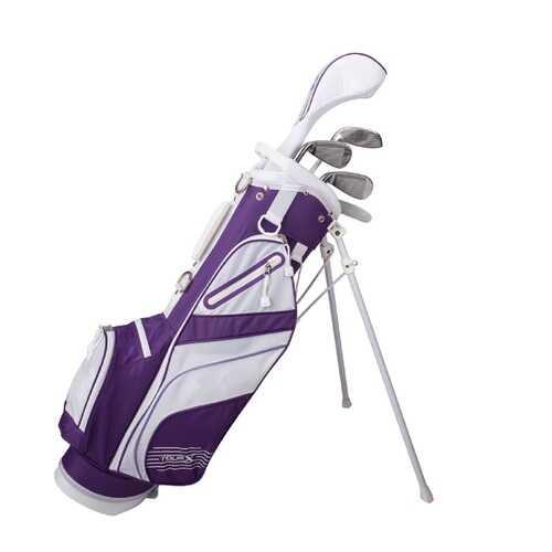 Tour X Size 2 Purple 5pc Jr Golf Set w Stand Bag