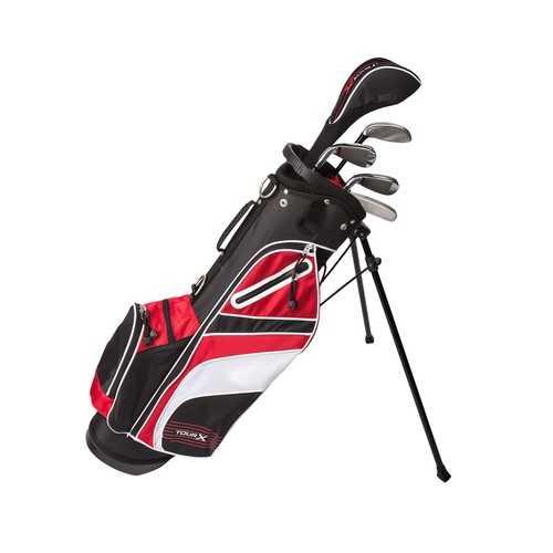 Tour X Size 2 5pc Jr Golf Set w Stand Bag LH