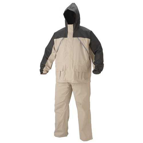 Coleman Apparel Suit PVC Nylon Tan Size Medium