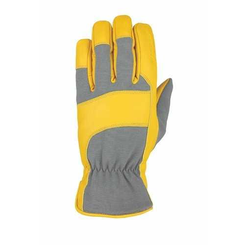 Heatwave Leather Glove Gray Tan Goatskin S