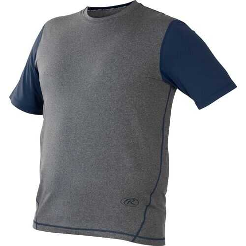 Rawlings Youth Hurler Performance S/S Shirt Navy Medium