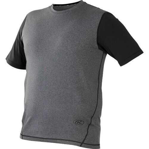 Rawlings Hurler Performance Shrt Slv Shirt Black Small