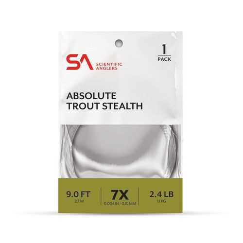 Scientific Anglers Absolute Trout Stealth 9 ft 7X Leader