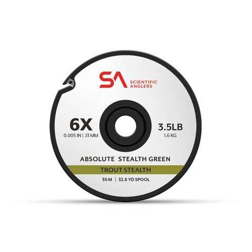 Scientific Anglers Absolute Trout Stealth Tippet 30M 3X Grn