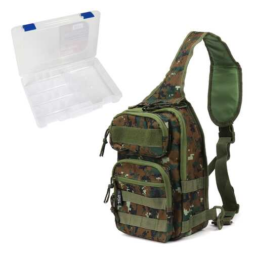 Osage River Fishing Sling Bag W/ Medium Tackle Box - Camo
