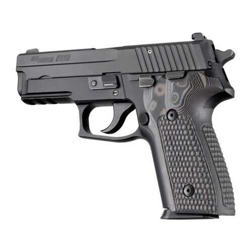 Hogue Sig Sauer P228 P229 DA SA Piranha G10 Black Grey