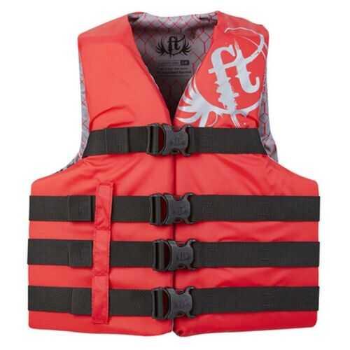 Full Throttle Adult Life Jacket Nylon S-M-Red