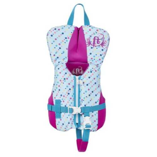 Full Throttle Infant Life Jacket Rapid-Dry Flex-Back-Aqua