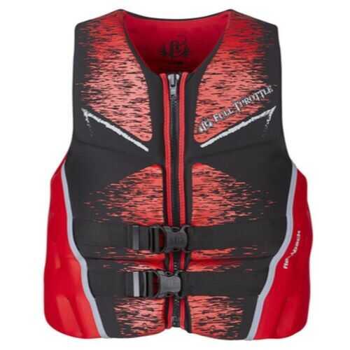 Full Throttle Mens Life Jacket Rapid-Dry Flex-Back-Red-2XL