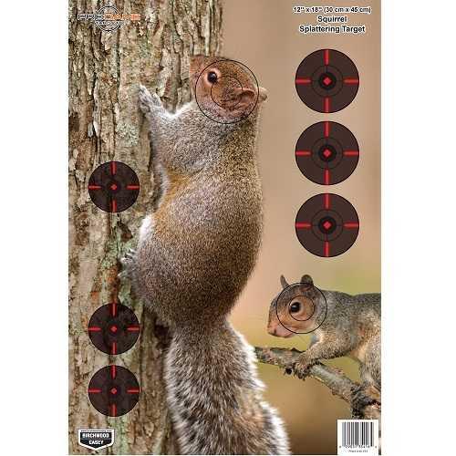 Birchwood Casey Pregame Squirrel 12x18 Target 8pk