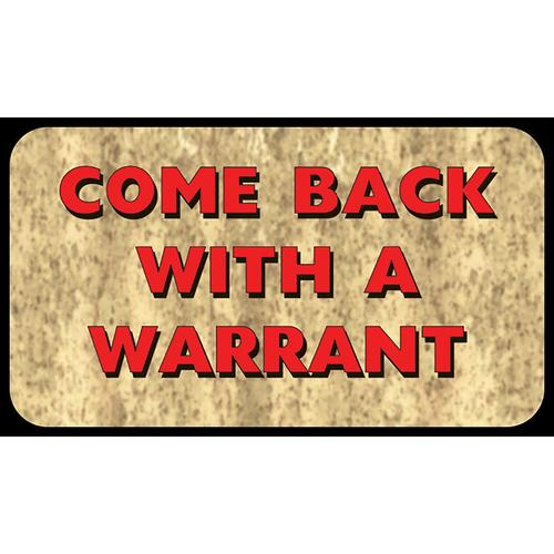 Rivers Edge Come Back With Warrant Door Mat