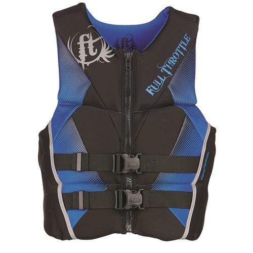 Full Throttle Mens Hinged Rapid-Dry Flex-Back Vest Blue-L