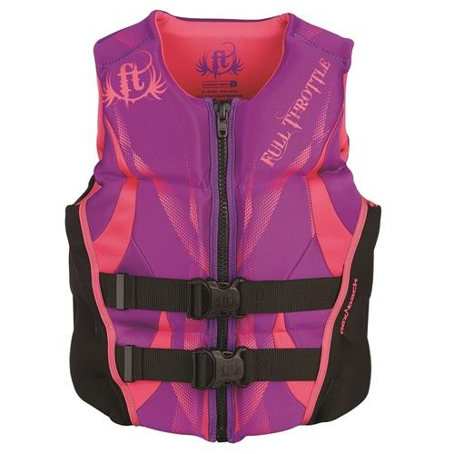 Full Throttle Womens Hinged Rapid-Dry Flex-Back Purple-L