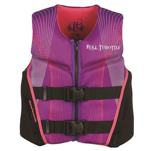 Full Throttle Child Hinged Rapid-Dry Flex-Back Purple