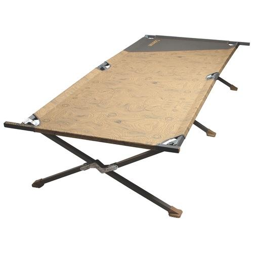 Coleman Big-N-Tall Cot Up to 6ft8in-Tan/Black