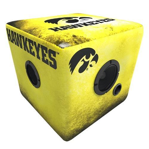 Rainmaker Iowa Hawkeyes Bluetooth Speaker Ottoman-Yellow/Blk