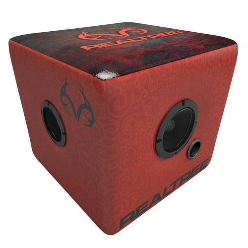 Rainmaker Realtree Bluetooth Speaker Ottoman-Red