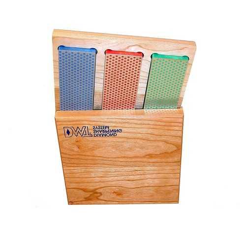 DMT 3 - 6-in. Diamond Whetstone Models in Hard Wood Box