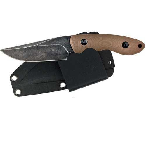 ABKT Elite Predator Fixed 3.5 in Blade Tan Handle