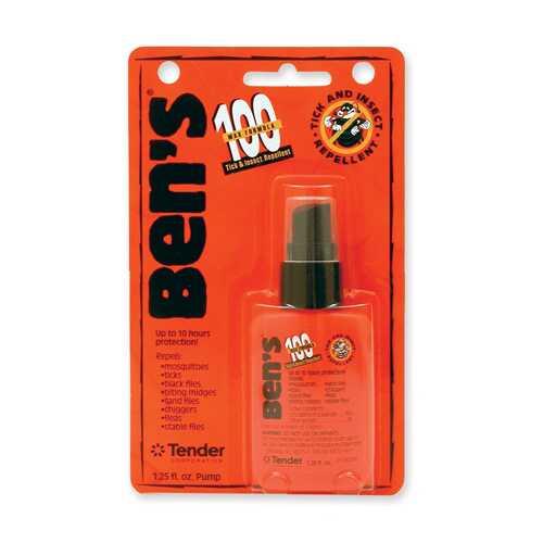 Bens 100 Tick and Insect Repellent Pump 1.25 oz