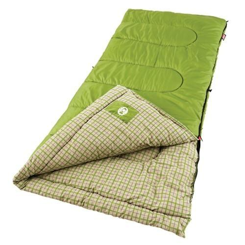 Coleman Green Valley 75x33 Inch Rectangle Sleeping Bag Green