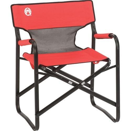 Coleman Chair Steel Deck W Mesh Red/Grey/Black 2000019421