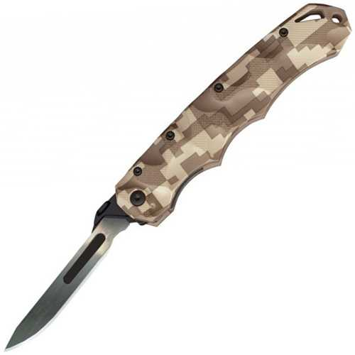 Havalon Knives Piranta Folding Knife Desert Digi-Cam Stag