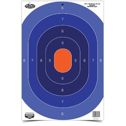 Birchwood Casey 16.5inx24in Blue/Orange Silhoutte-100 Trgts