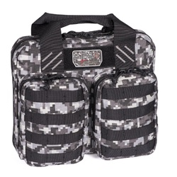 G.P.S. Tactical Double + 2 Pistol Case - Gray Digital