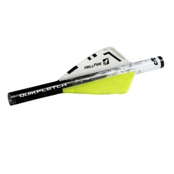 NAP Quikfletch 2in Hellfire -6 Pack White/Yellow/Yellow
