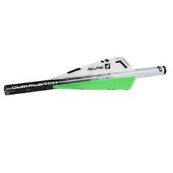 NAP Quikfletch 3in Hellfire Std - 6 Pack White/Green/Green