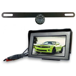 Top Dawg Wired License Plate Backup Wide Angle HD Camera