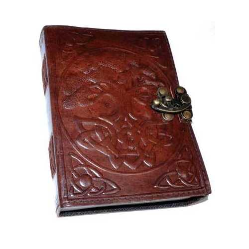 Tree of Life leather blank book w/ latch