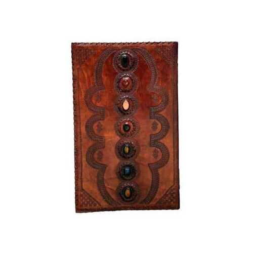 """14""""x22"""" 7 Stone leather blank book"""